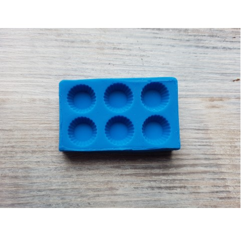 Silicone mold, miniature sweets, 6 min cupcakes, ~ Ø 1.1 cm