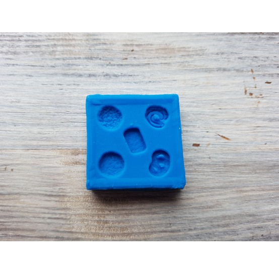 Silicone mold, miniature sweets, 5 micro sweets, ~ Ø 0.8 cm