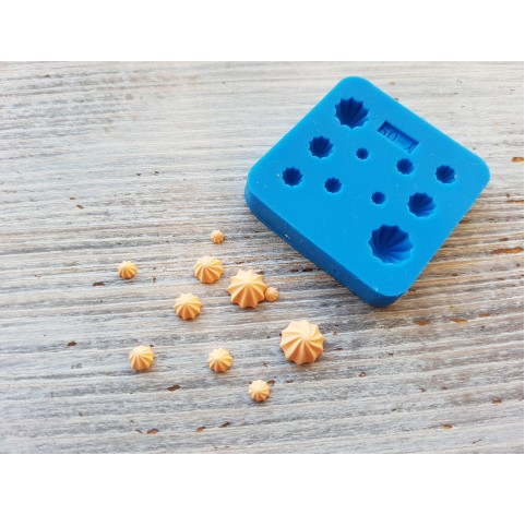 Silicone mold, miniature sweets, micro meringue, 10 pcs., ~ Ø 0.1-0.6 cm