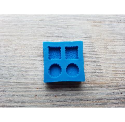 Silicone mold, miniature sweets, 4 mini cookies, ~ 0.7-0.8 cm
