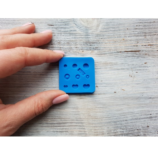 Silicone mold, miniature sweets, mini sweets, 3 types, 9 pcs., ~ 0.3-0.6 cm