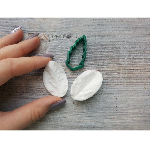 Verbena leaf, silicone mold and cutter, ~ 2.2*4.1 cm, ~ 2 cm