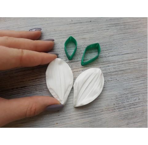 Dahlia petals, silicone mold and cutter, ~ 3.1*5.2 cm, ~ 1.5 cm