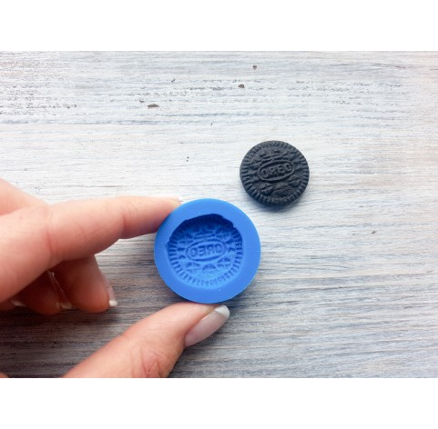 """Silicone mold, cookie """"O"""", round, ~ Ø 2.5 cm"""