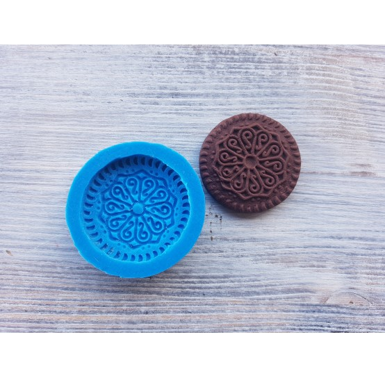Silicone mold, large cookie, ~ Ø 4 cm