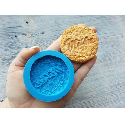 """Silicone mold, oatmeal cookie """"M"""", ~ Ø 5.5 cm"""