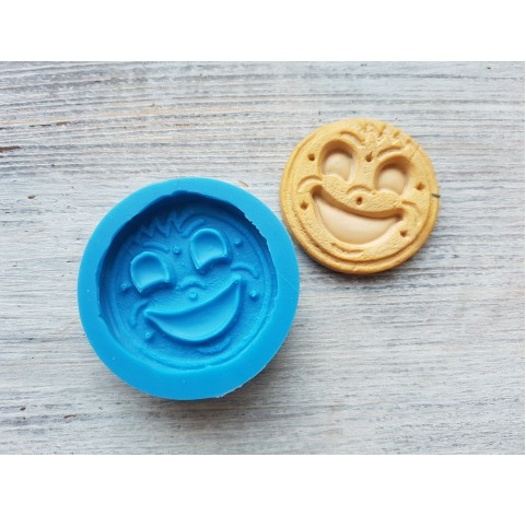 Silicone mold, cookie with a smile, ~ Ø 4.5 cm