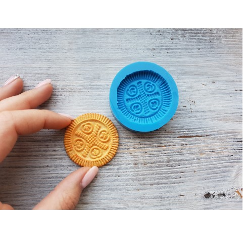 Silicone mold, cookie 4, ~ Ø 4.5 cm