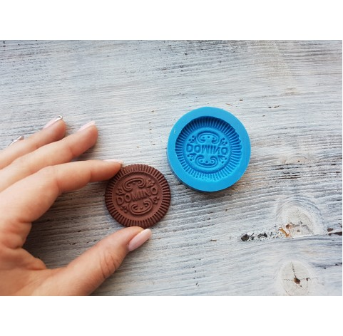 """Silicone mold, cookie """"D"""", ~ Ø 4.3 cm"""
