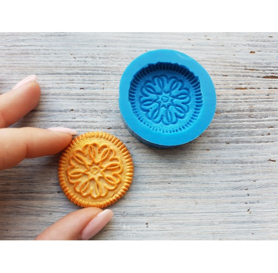 Silicone mold, cookie 6, ~ Ø 3.8 cm
