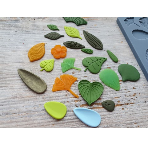"""Sculpey silicone mold for plastic, """"Flowers"""", 9.5*12.4 cm + squeegee"""