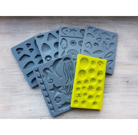 """Sculpey silicone mold for plastic, """"Boho Chic"""", 9.5*12.4 cm + squeegee"""