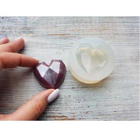 Silicone molds for epoxy, heart, ~ 4*4.2 cm