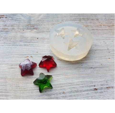 Silicone molds for epoxy, three stars, ~ 1.7*1.7 cm