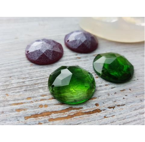 Silicone molds for epoxy, cabochons, diamonds, 2 pcs., ~ Ø 2.5 cm