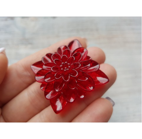Silicone molds for epoxy, square in the shape of a flower, ~ 4.4 cm