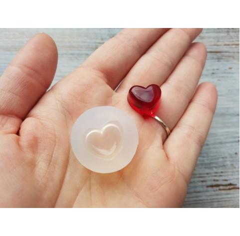 Silicone molds for epoxy, mini heart, ~ 1.1*1.5 cm