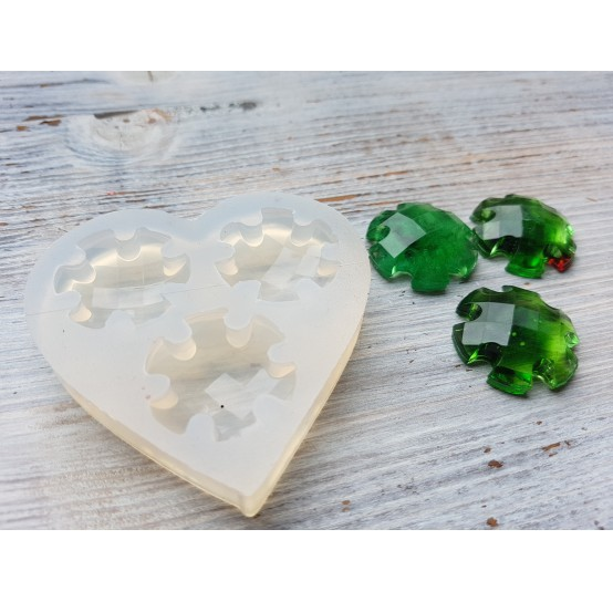 Silicone molds for epoxy, three figures, ~ 2.8 cm
