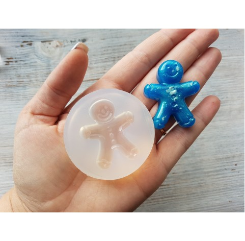 Silicone molds for epoxy, gingerbread man, ~ 4.5*3.5 cm