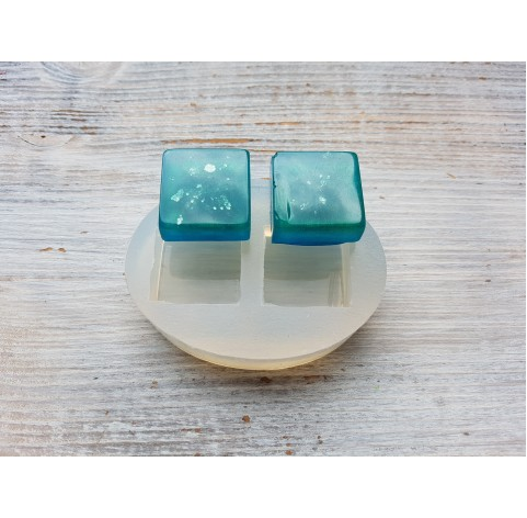 Silicone molds for epoxy, two squares, ~ 2.3 cm