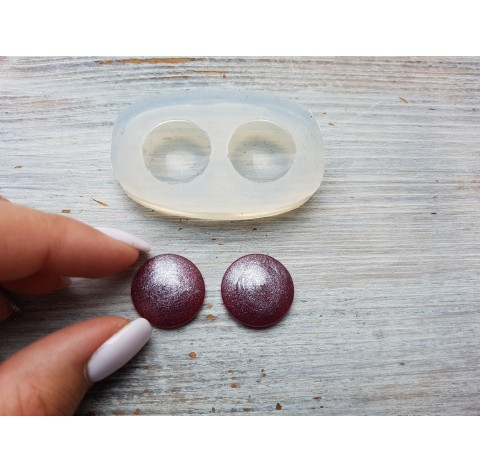 Silicone molds for epoxy, two circles, ~ Ø 1.9 cm