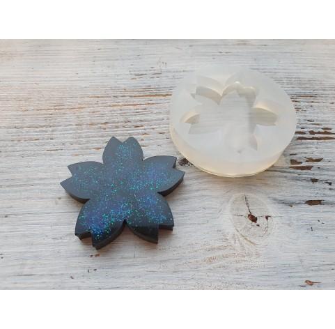 Silicone molds for epoxy, sakura flower, large, ~ 6 cm