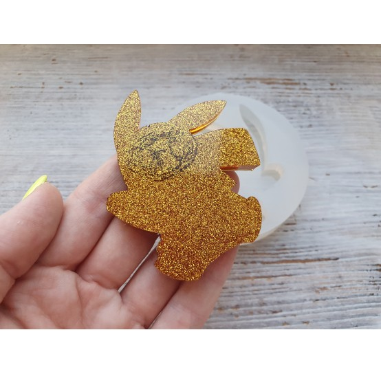 Silicone molds for epoxy, pikachu, large, ~ 5.8*7.1 cm