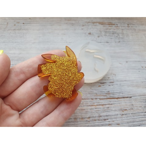 Silicone molds for epoxy, pikachu, small, ~ 3.7*4.2 cm