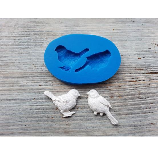 Silicone mold, sparrows, 2 pcs., ~ 1.8*3.7 cm