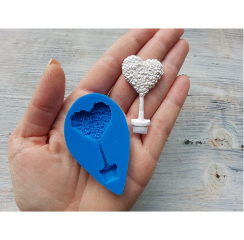 Silicone mold, tree-heart, ~ 2.8*5.1 cm