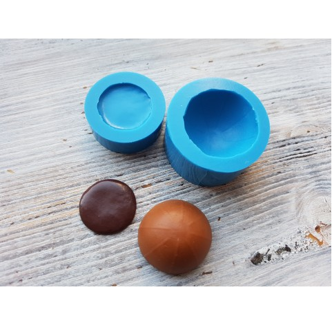 """Silicone mold, set of 2 pcs., candy """"caramel candy"""", ~ Ø 2.2-2.9 cm"""