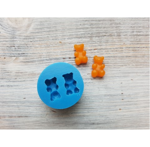 Silicone mold, jelly bears, 2 pcs., ~ 1*1.6 cm
