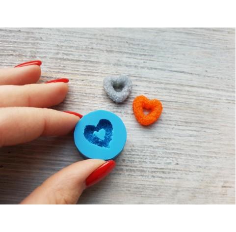 Silicone mold, sugar heart-donut, ~ 1.8 cm