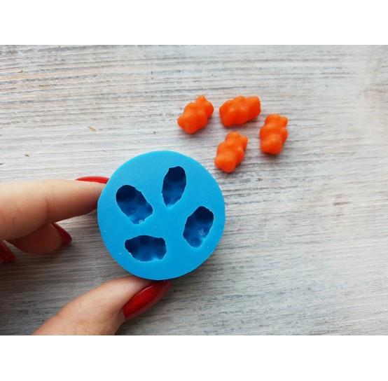 Silicone mold, jelly bears, 4 pcs., ~ 1.5 cm
