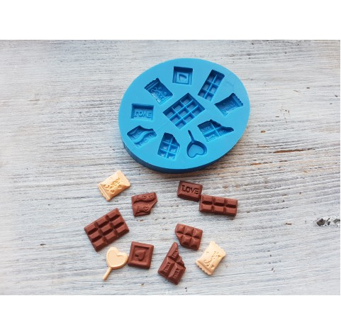 Silicone mold, set of sweets, 10 pcs., ~ 1.1-2.3 cm