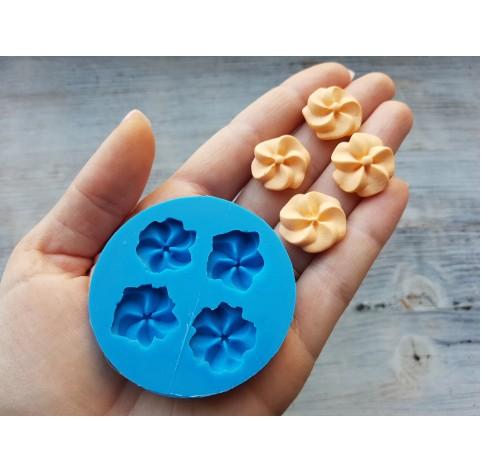 Silicone mold, candy set, flowers, 4 pcs., ~ Ø 2.1 cm