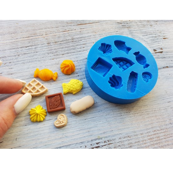 Silicone mold, set of sweets, 8 pcs., ~ 1.3-2.4 cm