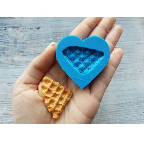 Silicone mold, piece of waffle, ~ 3.6*4.6 cm