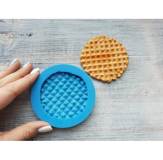 Silicone mold, big waffle, round, ~ Ø 7 cm