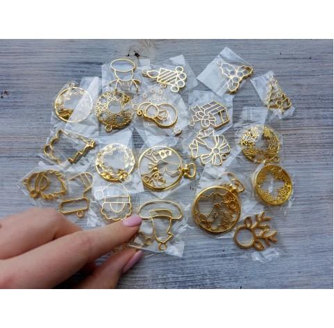 """Blank for jewelry """"Open Bezel"""", 1 pcs., random selection"""