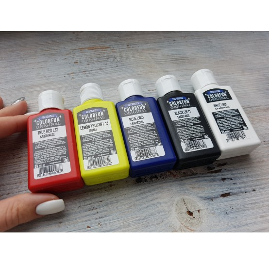 Dye for epoxy resins Colorfun Original, set, 5 colours, 5x25 ml