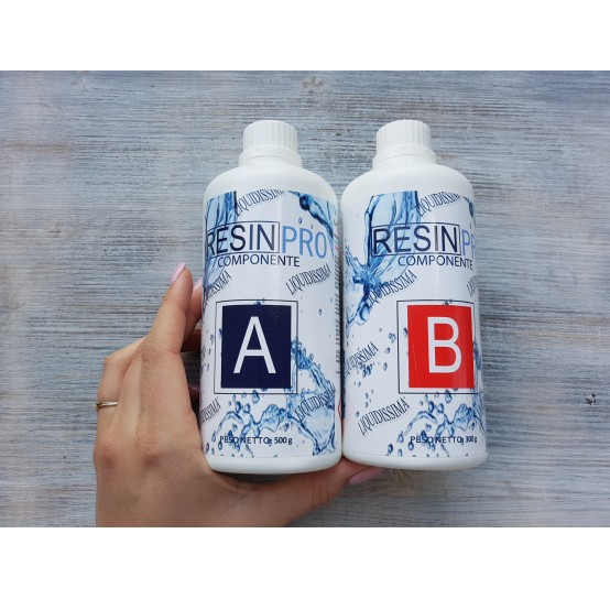 """Epoxy Resin """"Liquidissima"""", very liquid, transparent, 800 g"""