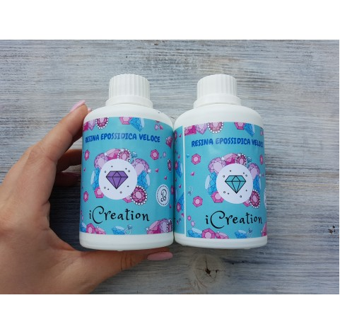 Epoxy resin with high reactivity I-CREATION / water effect, transparent, 300 g