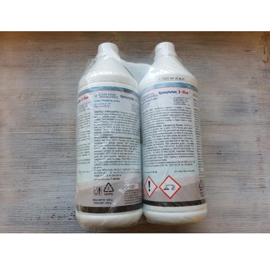 Epoxy resin Epoxytable 5-five, transparent, 1.55 kg
