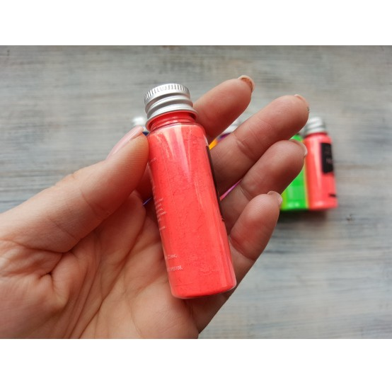 Neon color pigment, light red, 10 gr