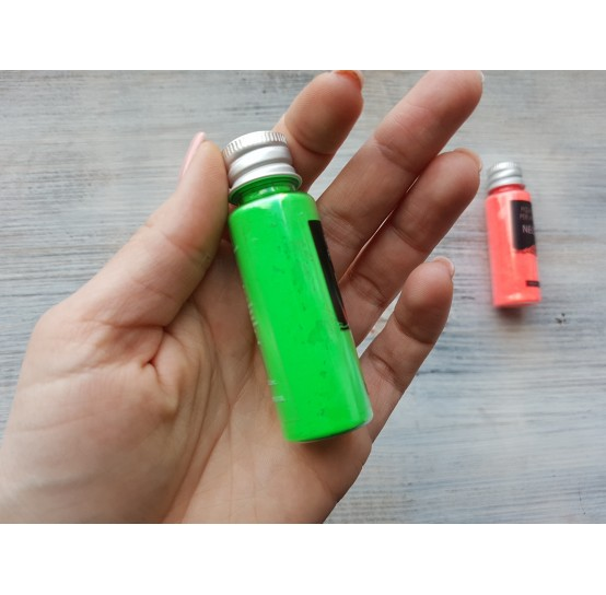 Neon color pigment, green, 10 gr