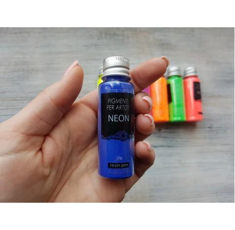 Neon color pigment, blue, 10 gr