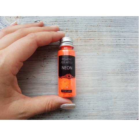 Neon color pigment, dark orange, 10 gr