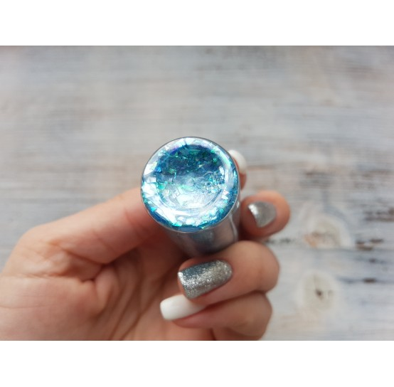 Pigment GLITTER GALAXY PASTEL with sequins, blue, 25 gr