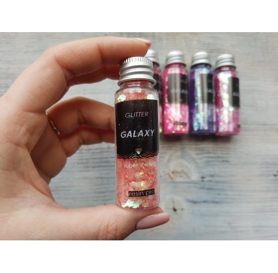 Pigment GLITTER GALAXY with sequins, orange, 25 gr
